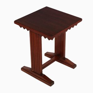 Mid-Century Walnut Stool or Nightstand by Giovanni Michelucci