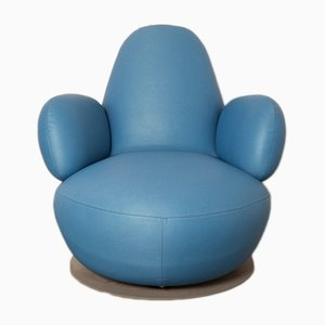 Oppo O52A Mediterranean Blue Armchair by Stefan Borselius for BLÅ Station, 2000s