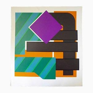 Abstrakte Komposition Serigrafie von Helmut Sundhaußen, 1969
