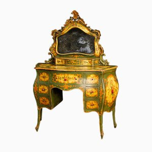 Venetian Lacquered and Painted Wood Dressing Table, 1950s