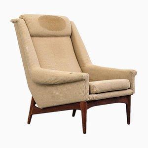Danish Teak High Back Easy Chair from Bramin, 1960s