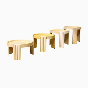 Marema Stacking Tables by Gianfranco Frattini for Cassina, 1970s, Set of 8