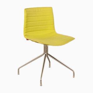 Gelber Modell Catifa 46 Chair mit Kreuzgestell von Lievore Altherr Molina für Arper, 2000er