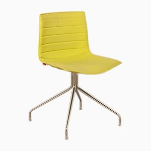 Yellow Catifa 46 Cross Base Chair by Lievore Altherr Molina for Arper, 2000s