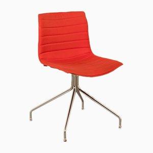 Roter Catifa 46 Sessel mit Kreuzgestell von Studio Lievore Altherr Molina für Arper, 2000er