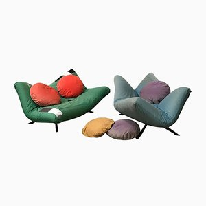 Vintage Ribalta Couches from Artflex, 1980s, Set of 2
