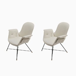 Vintage Armchairs by Augusto Bozzi for Saporiti, Set of 2