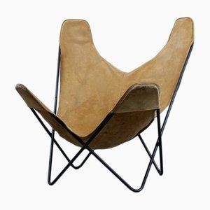 Hammock Sessel aus Wildleder von Jorge Ferrari-Hardoy für Knoll, 1950er