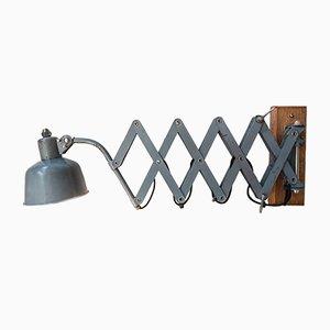 Lámpara de pared de acordeón articulada grande, años 30