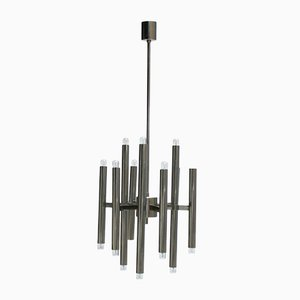 Vintage Nine-Arm Modernist Chandelier by Sciolari for Boulanger