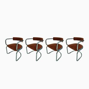 Vintage Armchairs, 1970s, Set of 4