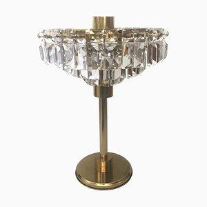 Vintage Tischlampe aus Kristallglas, 1960er