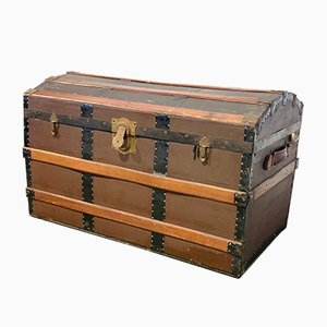 Antique Dome-Topped Captain's Trunk