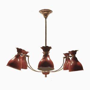 Lámpara colgante Mid-Century de latón