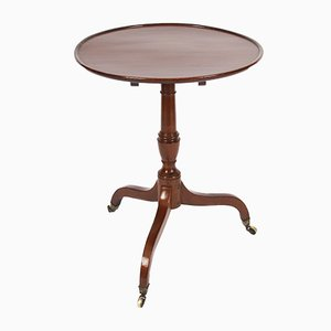 19th Century Mahogany Dish Top Occasional Table on Castors