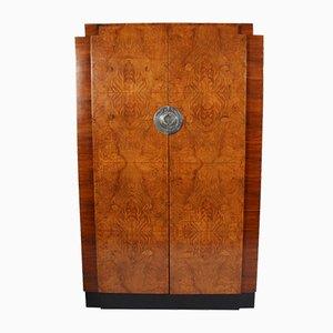 Armario belga vintage de madera nudosa de nogal, años 20