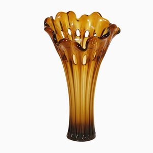 Antique Art Nouveau Ambra Vase by Salviati