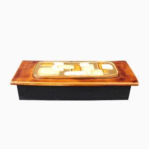 Boîte à Bijoux avec Couvercle Décoratif en Céramique par François Lembo, 1960s