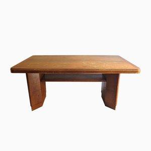 Tavolino in stile Art Déco vintage con mensola