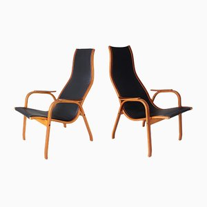 Vintage Kurva Armchairs by Yngve Ekström for ESE Möbler, Set of 2