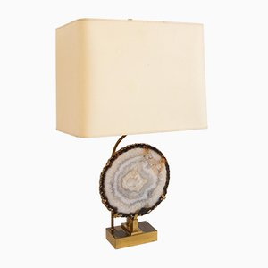 Vintage Agate Table Lamp by Willy Daro