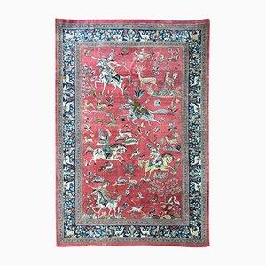 Vintage Silk Qum Rug