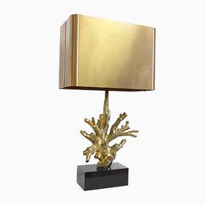 Vintage Lampe mit Fuß in Korallen-Optik von Maison Charles