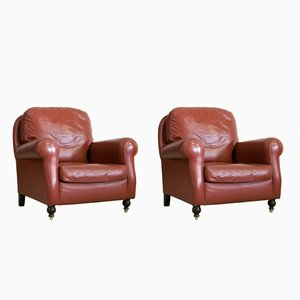 Vintage Armchairs from Poltrona Frau, Set of 2