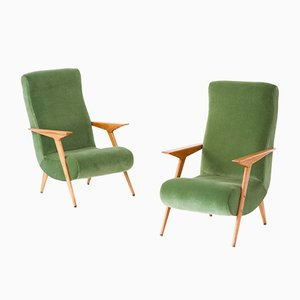 Moderne italienische Mid-Century Sessel, 1950er, 2er Set