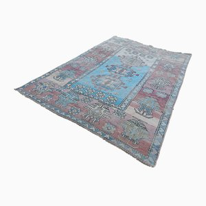 Vintage Turkish Wool Oushak Carpet