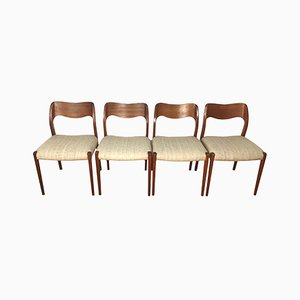 Dining Chairs by Niels O. Møller, 1960s, Set of 4