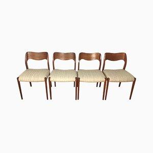 Esszimmerstühle von Niels O. Møller, 1960er, 4er Set