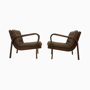Vintage Armchairs by Karel Kozelka and Antonin Kropacek, 1940s, Set of 2