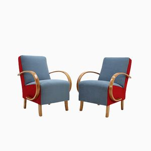 Vintage Armchairs by Jindřich Halabala for UP Závody, 1950s, Set of 2