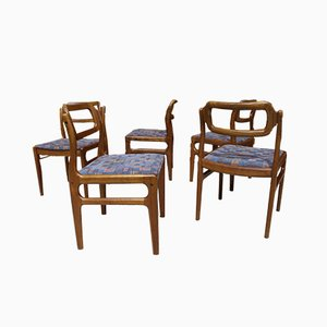 Mid-Century Danish Teak Dining Chairs from Uldum Møbelfabrik, 1970s, Set of 5