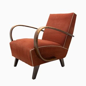 Mid-Century Model C Armchairs by Jindřich Halabala for UP Závody, 1950s, Set of 2
