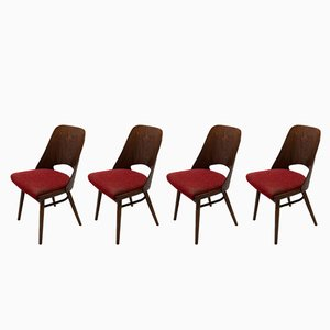 Mid-Century Bentwood Dining Chairs by Radomír Hofman for UP Závody, 1960s, Set of 4