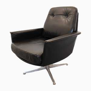German Sedia Leather Swivel Armchair by Horst Brüning for Cor, 1960s