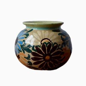 Vase Vintage avec Fleurs par Jean Garillon pour Elchinger