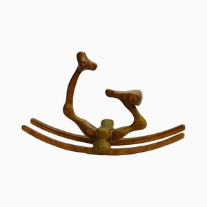 Mid-Century Carved Rocking Horse Sculpture by Denis Cospen, 1970s