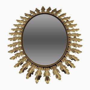 Espejo ovalado en forma de sol, años 50