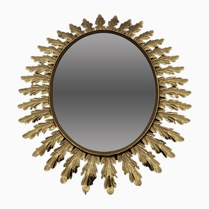 Oval Sunburst Mirror, 1950s