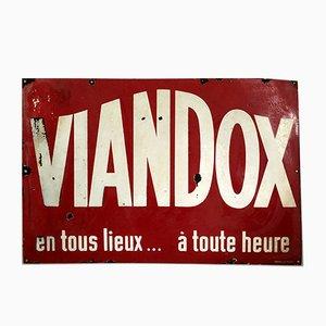 Vintage Viandox Sign, 1950s