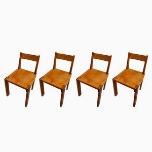 Chaises S24 Vintage par Pierre Chapo, Set de 4