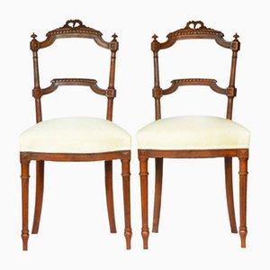 Französische Louis XVI Beistellstühle, 2er Set