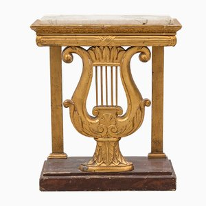 19th-Century Swedish Empire Lyre Console