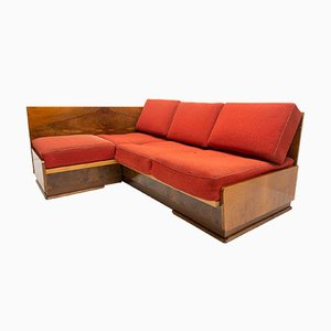 Mid-Century Walnut Sofa by Jindrich Halabala for UP Zavody, 1950s