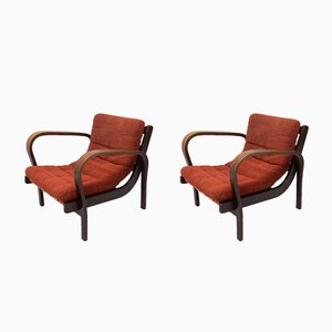 Vintage Armchairs by Kropacek & Kozelka for Interier Praha, 1944, Set of 2