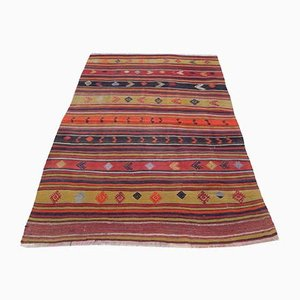 Kleiner türkischer Vintage Teppich