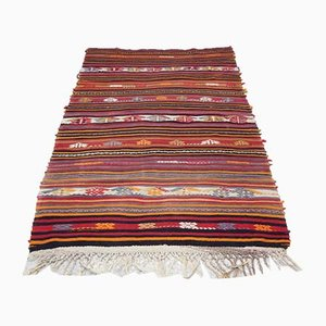 Vintage Handcrafted Tribal Rug